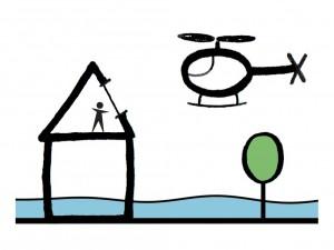Bouwen met verdieping en dakraam (verticale evacuatie)